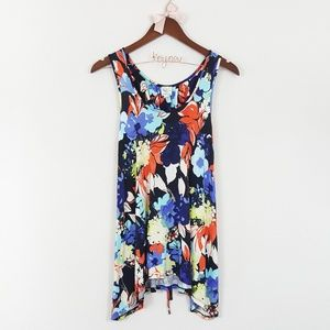 Weston Wear Anthro Floral Tie Back Swing Tank Top